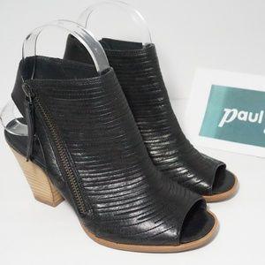 Paul Green Cayanne Peep Toe Heeled Sandal Black